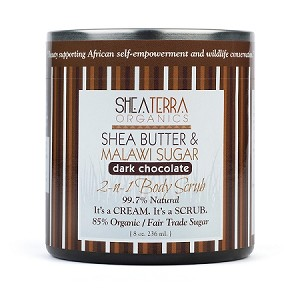 Shea Butter & Malawi Sugar 2 n 1 Body Scrub (DARK CHOCOLATE)
