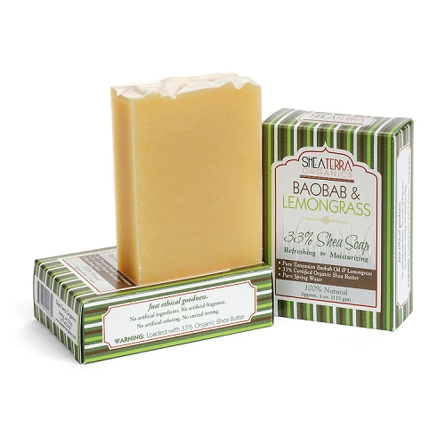 Baobab Lemongrass Regenerating + Refreshing Bath Bar