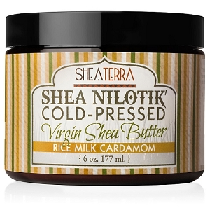 Shea Nilotik' Cold Pressed Virgin Shea Butter RICE CARDAMOM