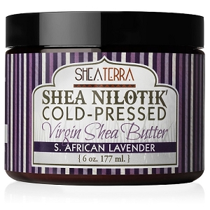 Shea Nilotik' Cold Pressed Virgin Shea Butter S. AFRICAN LAVENDER
