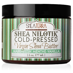 Shea Nilotik' Cold Pressed Virgin Shea Butter MARRAKESH MENTHE VANILLA