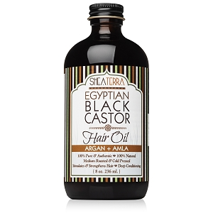 100% Pure Egyptian Black Castor Oil ARGAN + AMLA