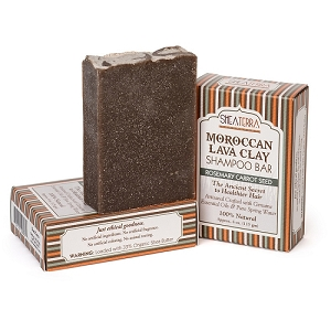 Moroccan Lava Clay Shampoo Bar ROSEMARY CARROT SEED
