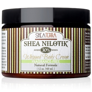 Shea Nilotik' 30% Shea Butter Whipped Body Cream FRAGRANCE FREE