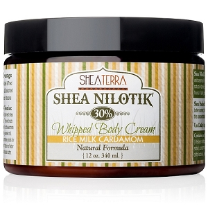 Shea Nilotik' 30% Shea Butter Whipped Body Cream RICE MILK CARDAMOM