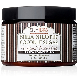 Shea Nilotik' Butter Coconut Sugar Whipped Body Scrub DAKARA FRANKINCENSE