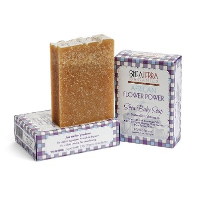 African Flower Power Shea Baby Soap