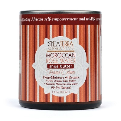 Moroccan Rose Water Shea Butter Hand Cre'me