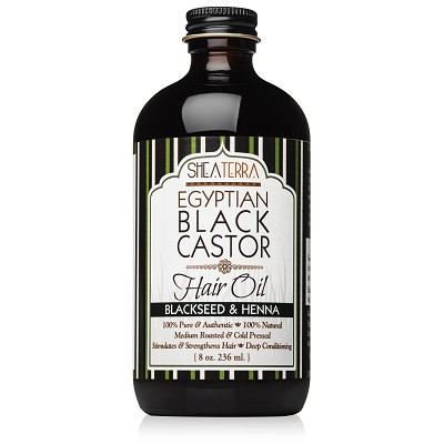 100% Pure Egyptian Black Castor Oil BLACKSEED & HENNA