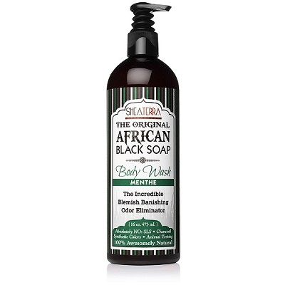 The Original African Black Soap Body Wash MENTHE