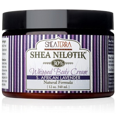 Shea Nilotik' 30% Shea Whipped Body Cream S. AFRICAN LAVENDER