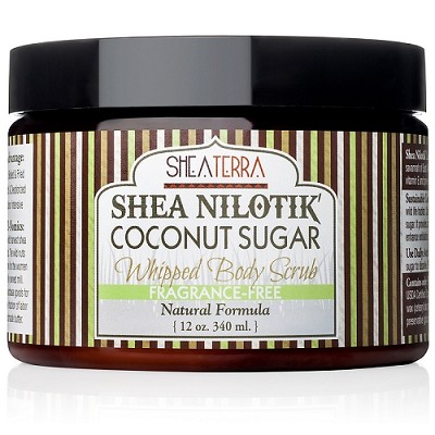 Shea Nilotik' Butter Coconut Sugar Whipped Body Scrub FRAGRANCE FREE