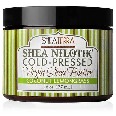 Shea Nilotik' Cold Pressed Virgin Shea Butter COCONUT LEMONGRASS