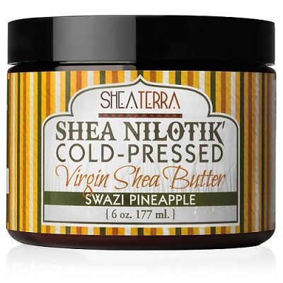 Shea Nilotik' Cold Pressed Virgin Shea Butter SWAZI PINEAPPLE