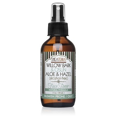 Willow Bark & Osun Aloe & Hazel Face Toner (alcohol-free)